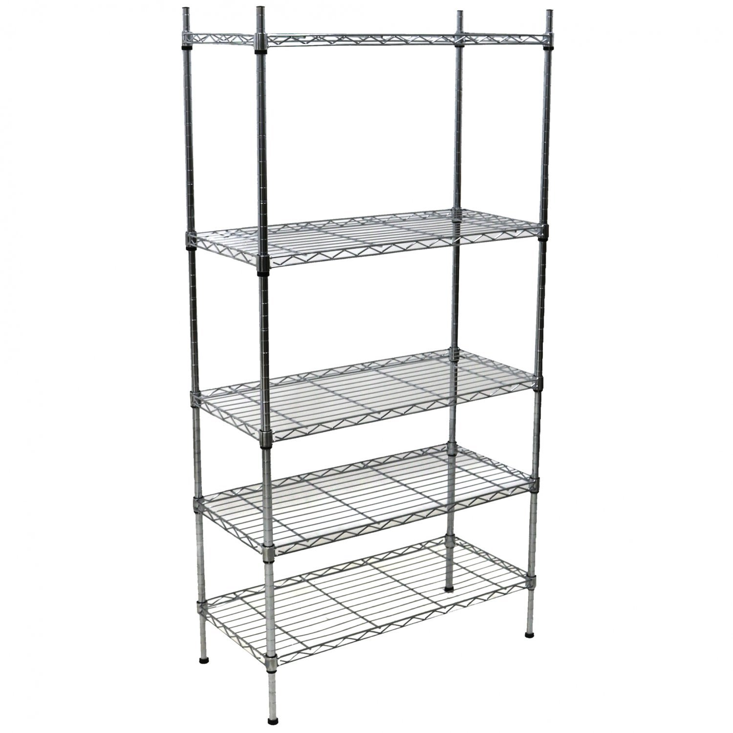 5 Tier Heavy Duty Steel Wire Rack Shelf Storage Shelving Unit ...