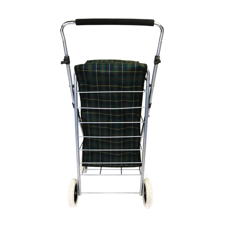 0e4bd5523b4 4 Wheel Folding Shopping Trolley Bag Cart Market Laundry - £19.99 ...