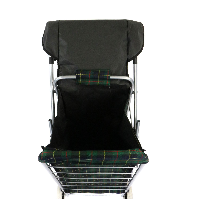 4 Wheel Folding Shopping Trolley Bag Cart Market Laundry £19 99
