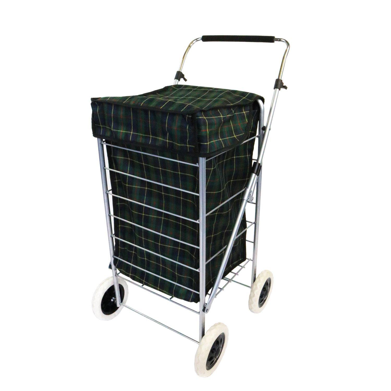 New 4 Wheel Folding Shopping Mobility Trolley Bag Cart