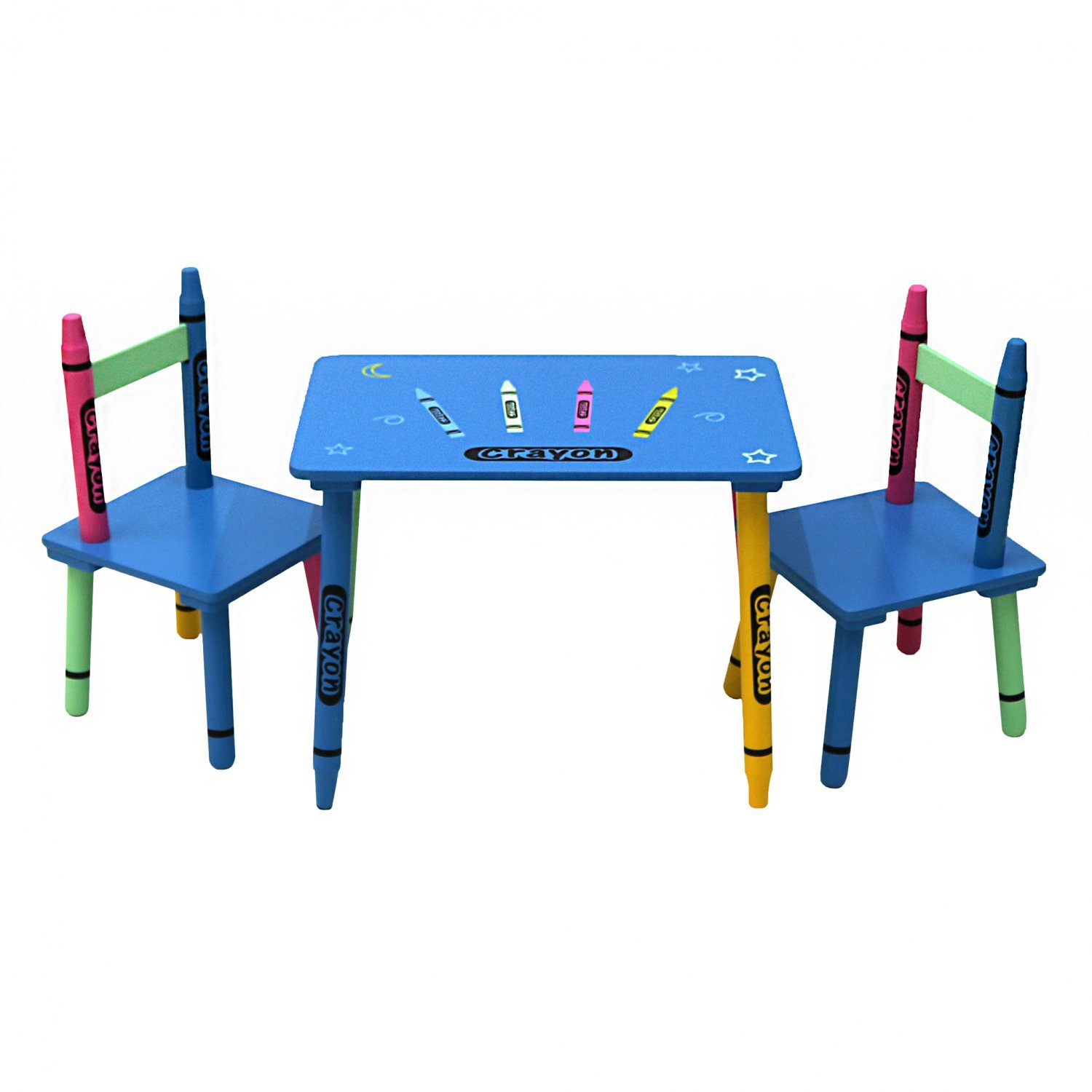 Girls Kids Childrens Wooden Nursery Bedroom Furniture Toy: Childrens Wooden Crayon Table And Chairs Set Kids Room