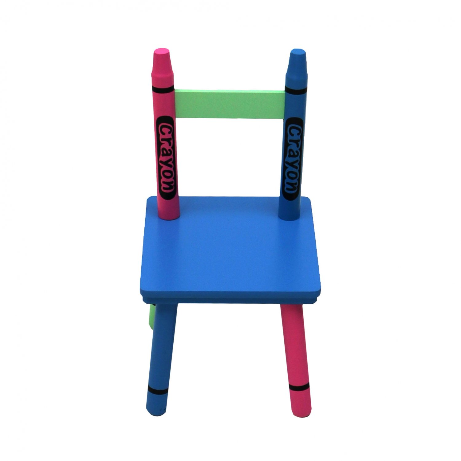 Childrens Wooden Crayon Table And Chairs Set Kids Room Furniture