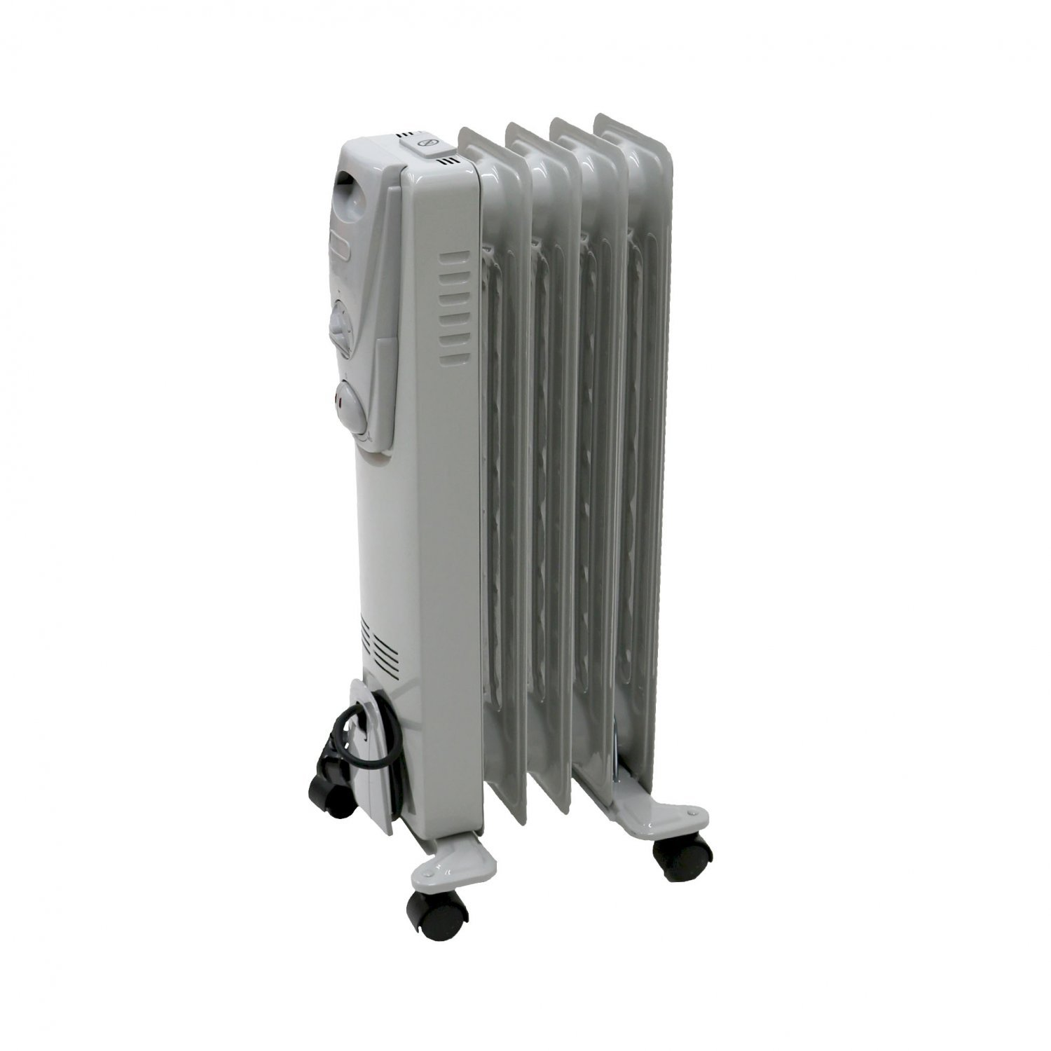 1000w 5 fin portable oil filled radiator electric heater. Black Bedroom Furniture Sets. Home Design Ideas