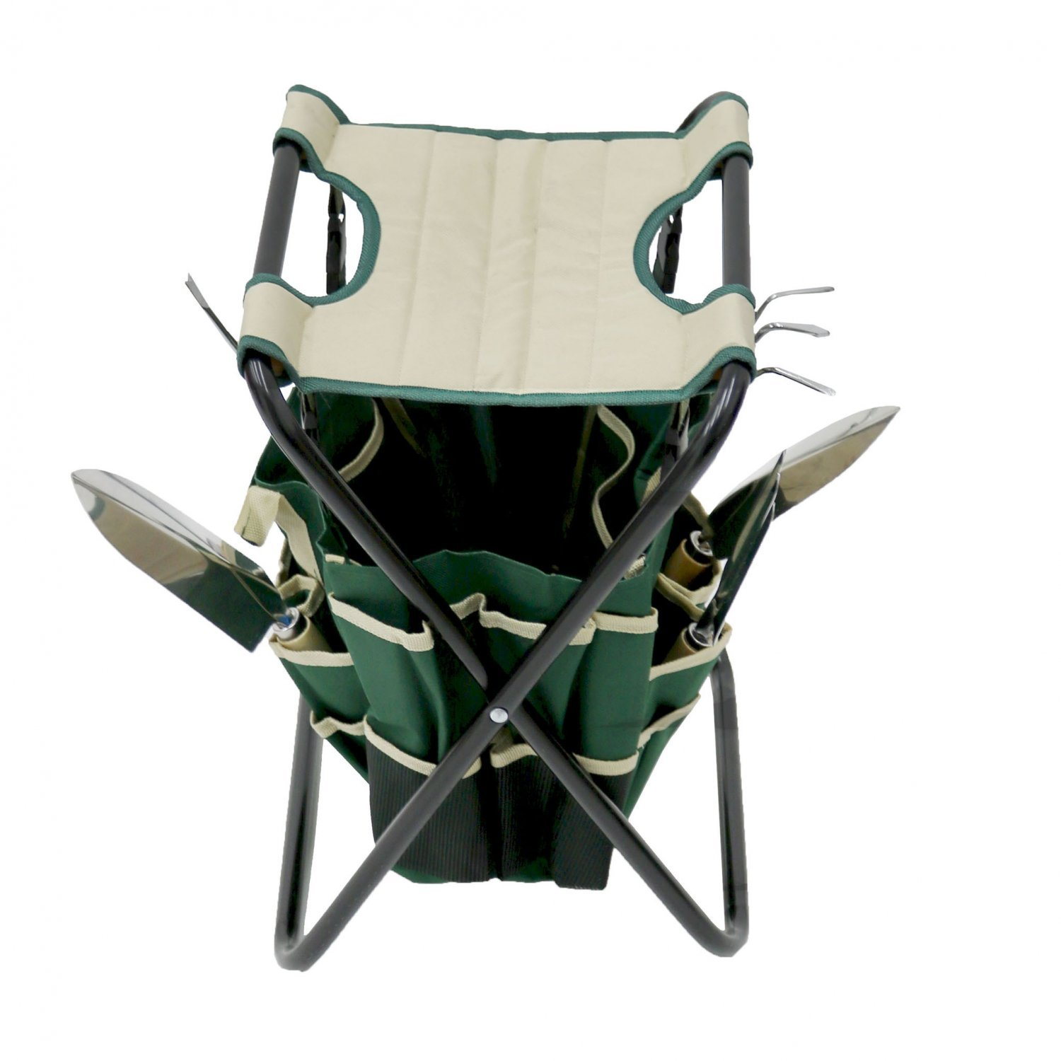 ... Folding Gardeners Stool With 5pc Tools And Storage Bag Gardening ...