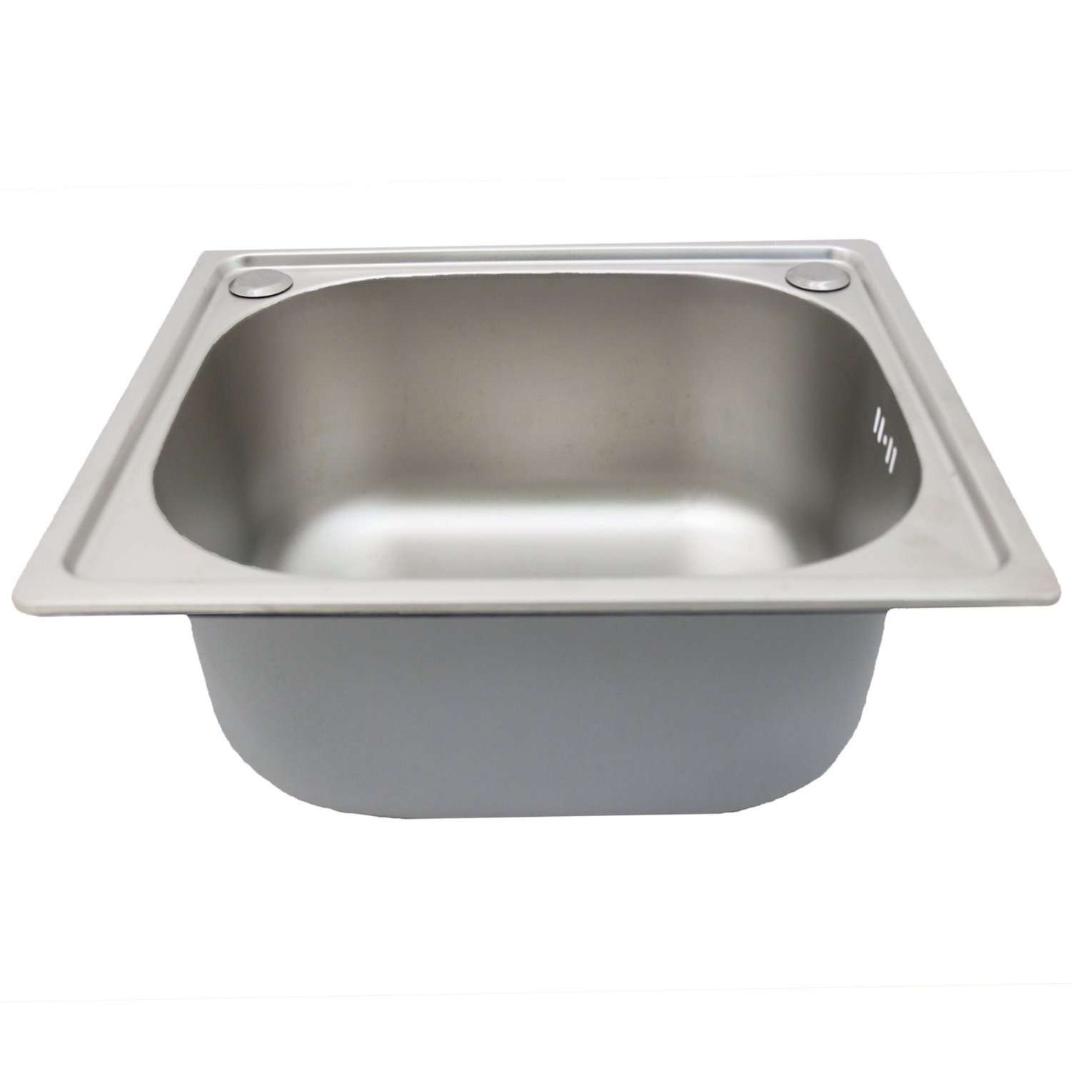 Top Mount Sink Kitchen: Brushed Stainless Steel Top Mount Kitchen Bowl Sink W
