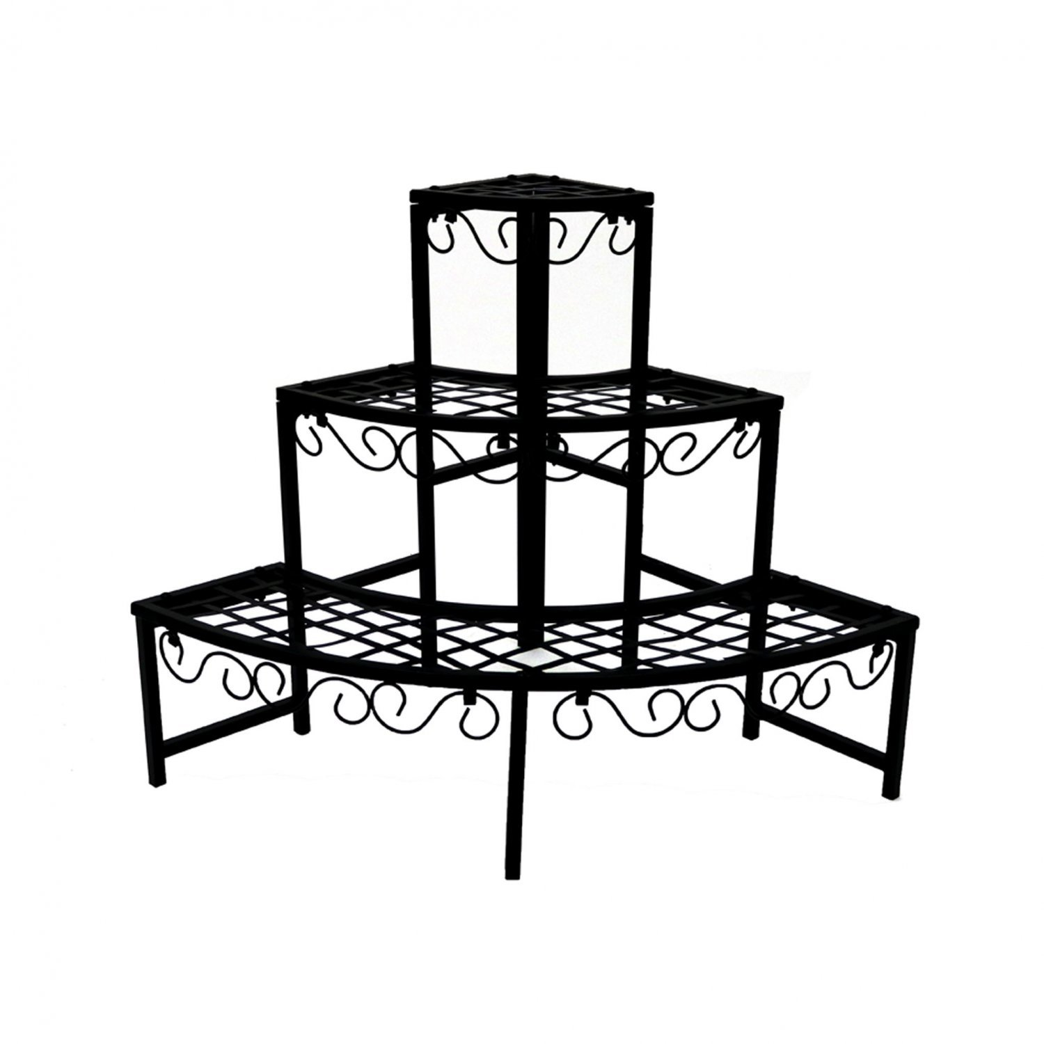 Corner Exhibition Stands Tallahassee : Tier corner metal garden flower plant stand display