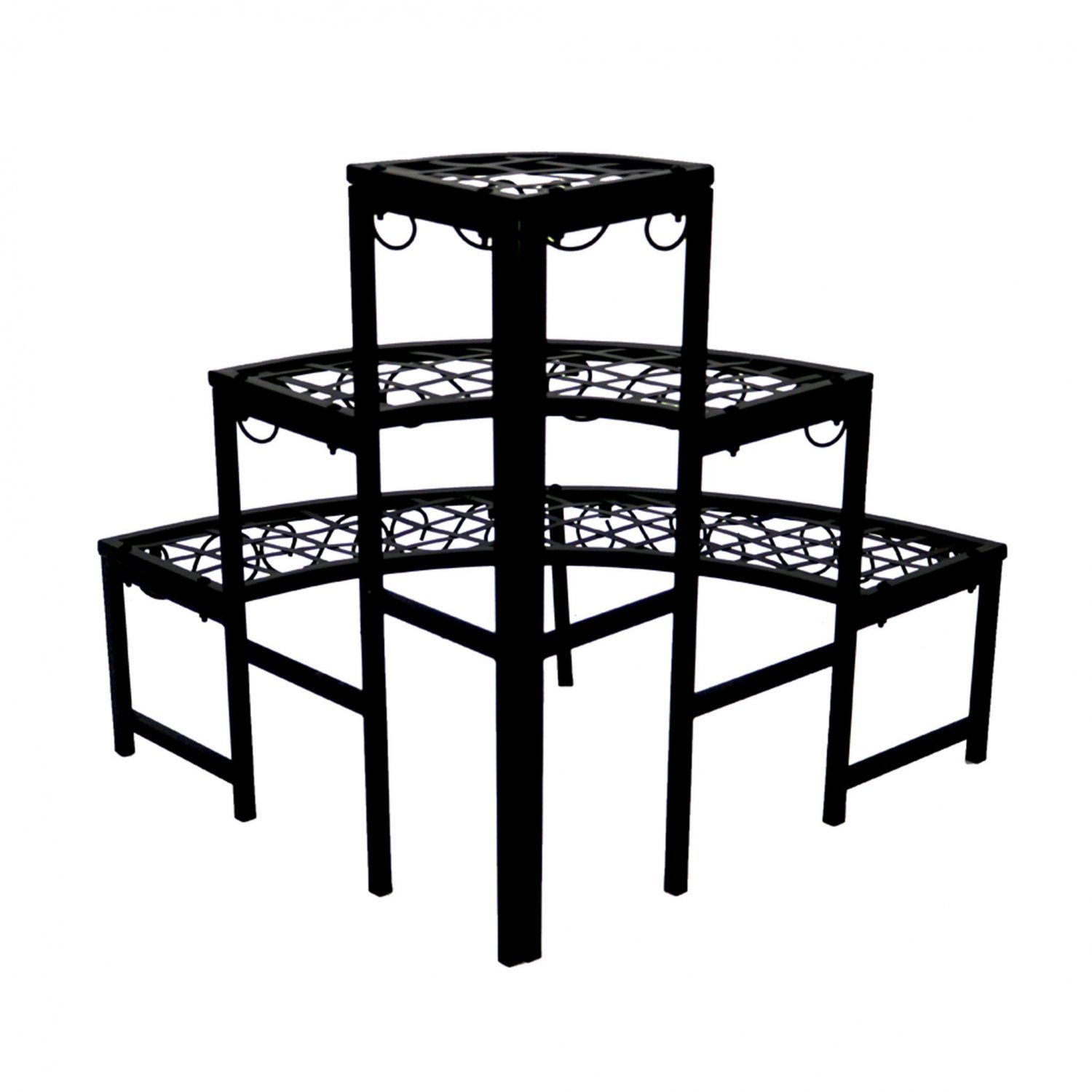3 Tier Corner Metal Garden Flower Plant Stand Display Shelf