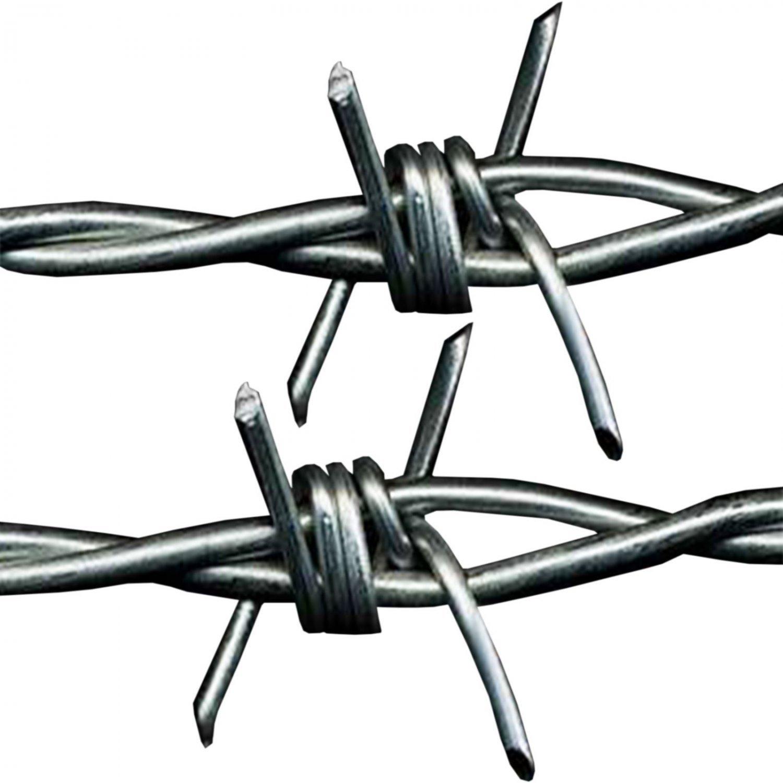 50m x 1 7mm galvanised steel barbed wire livestock