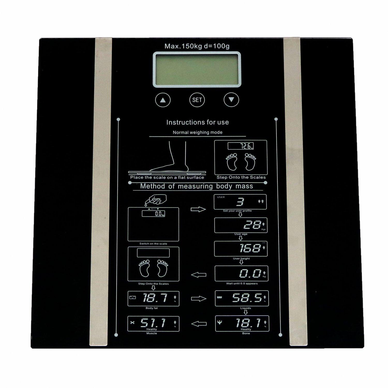 Bmi bathroom scales -  150kg Digital Electronic Body Fat Bmi Analyser Bathroom Scales