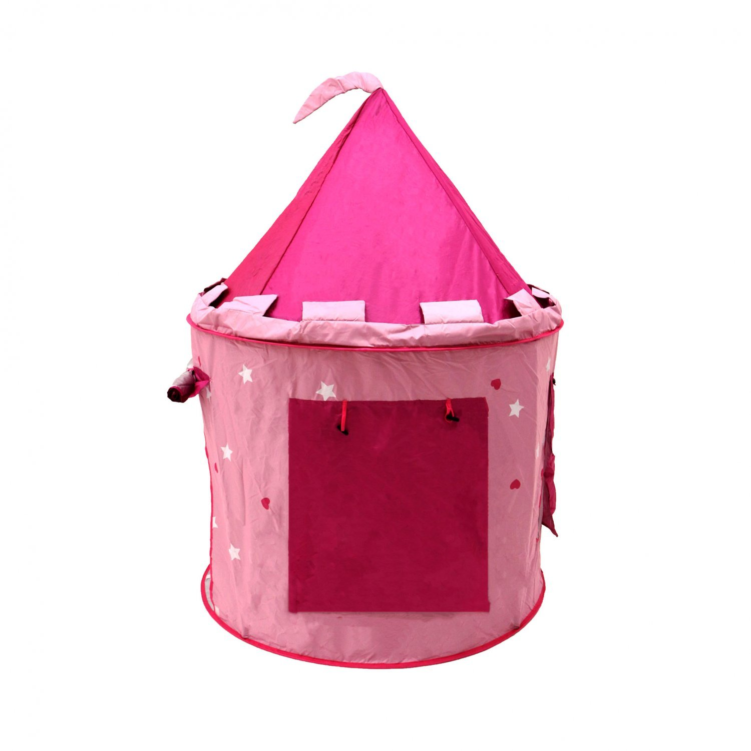 sc 1 st  Oypla & Childrens Kids Pink Castle Pop Up Play Tent Fairy Princess ...