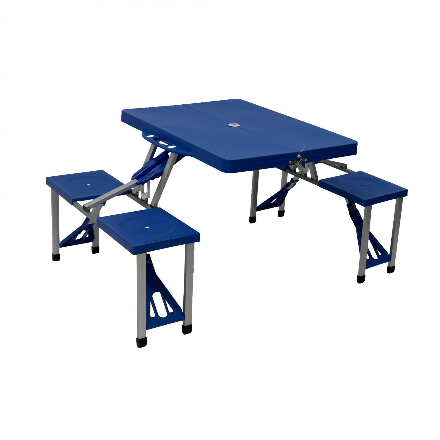 Portable folding outdoor picnic table and bench set 4 for Table and bench set
