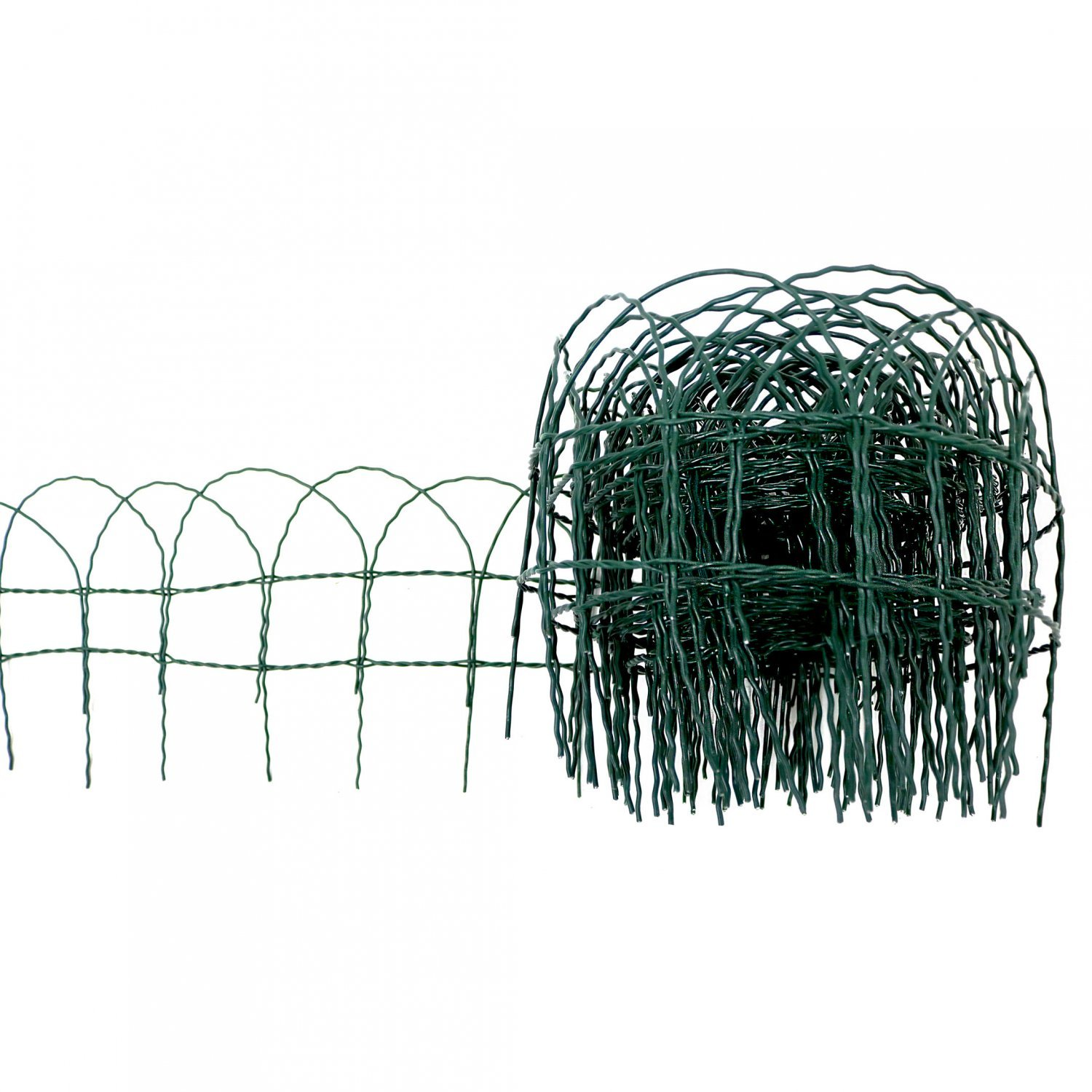 10m x 250mm Garden Lawn Border Edging Fencing PVC Coated Wire ...