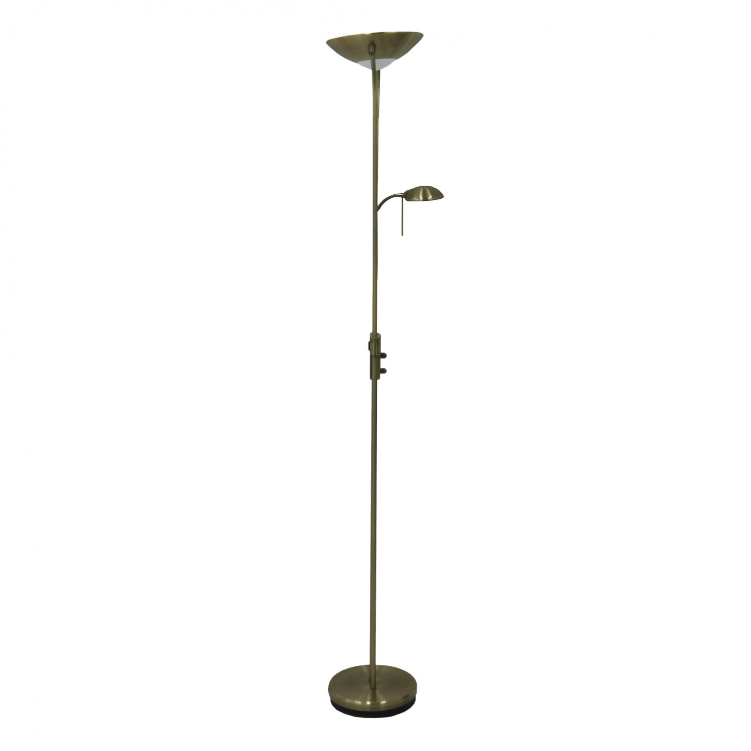 Brass Mother Amp Child Floor Standing Uplighter Lamp Reading Light 163 36 99 Oypla Stocking The