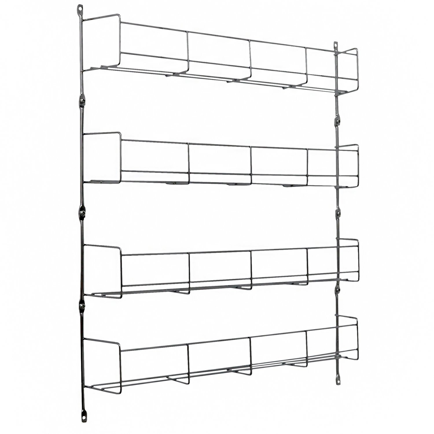 4 Tier 32 Jar Spice Herb Rack Kitchen Storage Wall Mountable
