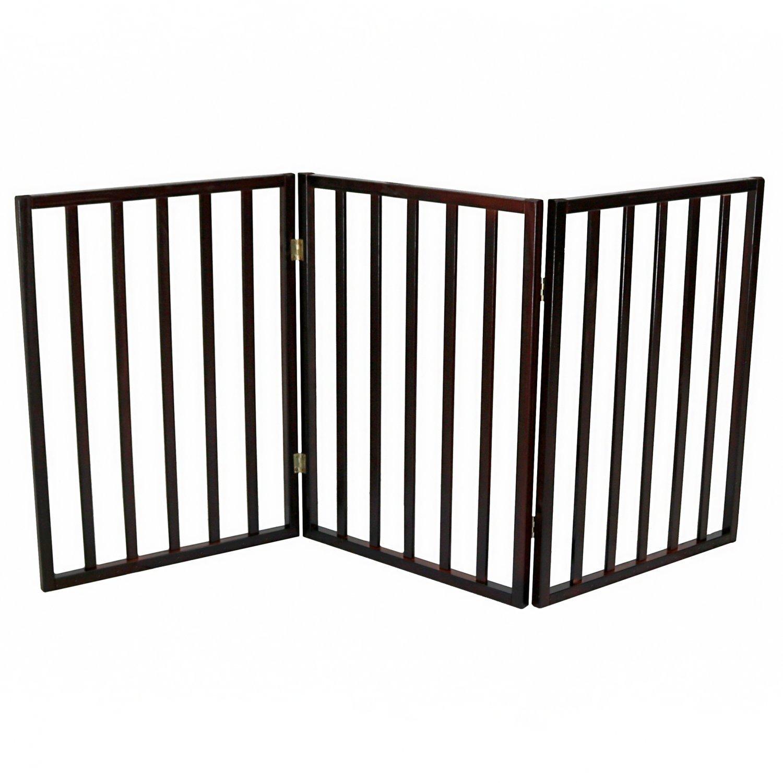 Dog Safety Folding Wooden Pet Gate Portable Indoor Barrier - £19.99 ...