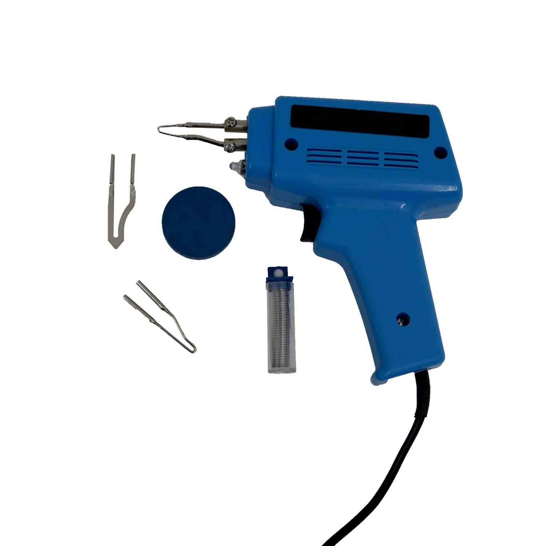 Soldering Iron Kit : W electric soldering gun iron kit with tips solder