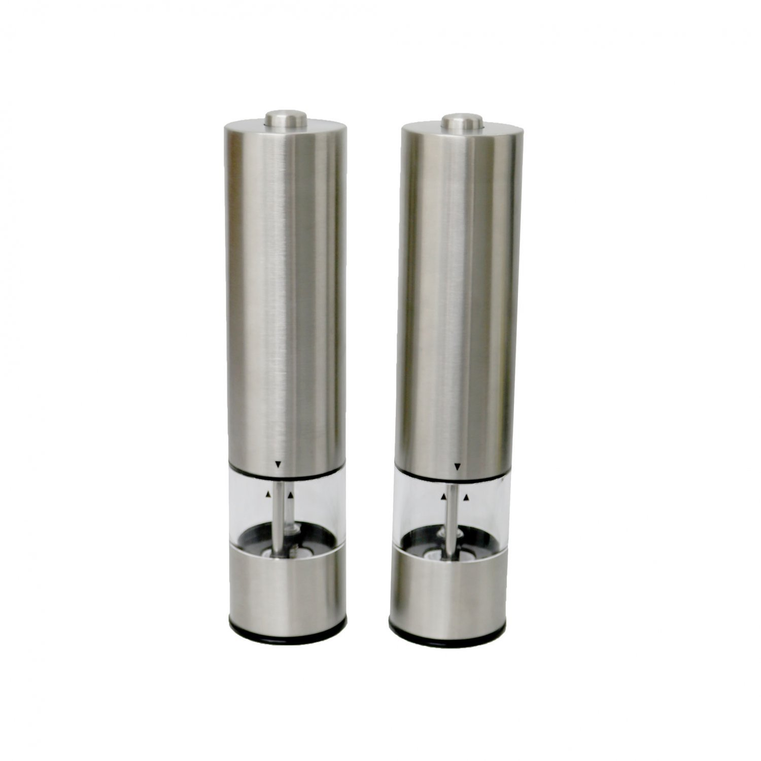 stainless steel electric salt pepper grinder mill shaker set oypla stocking the. Black Bedroom Furniture Sets. Home Design Ideas