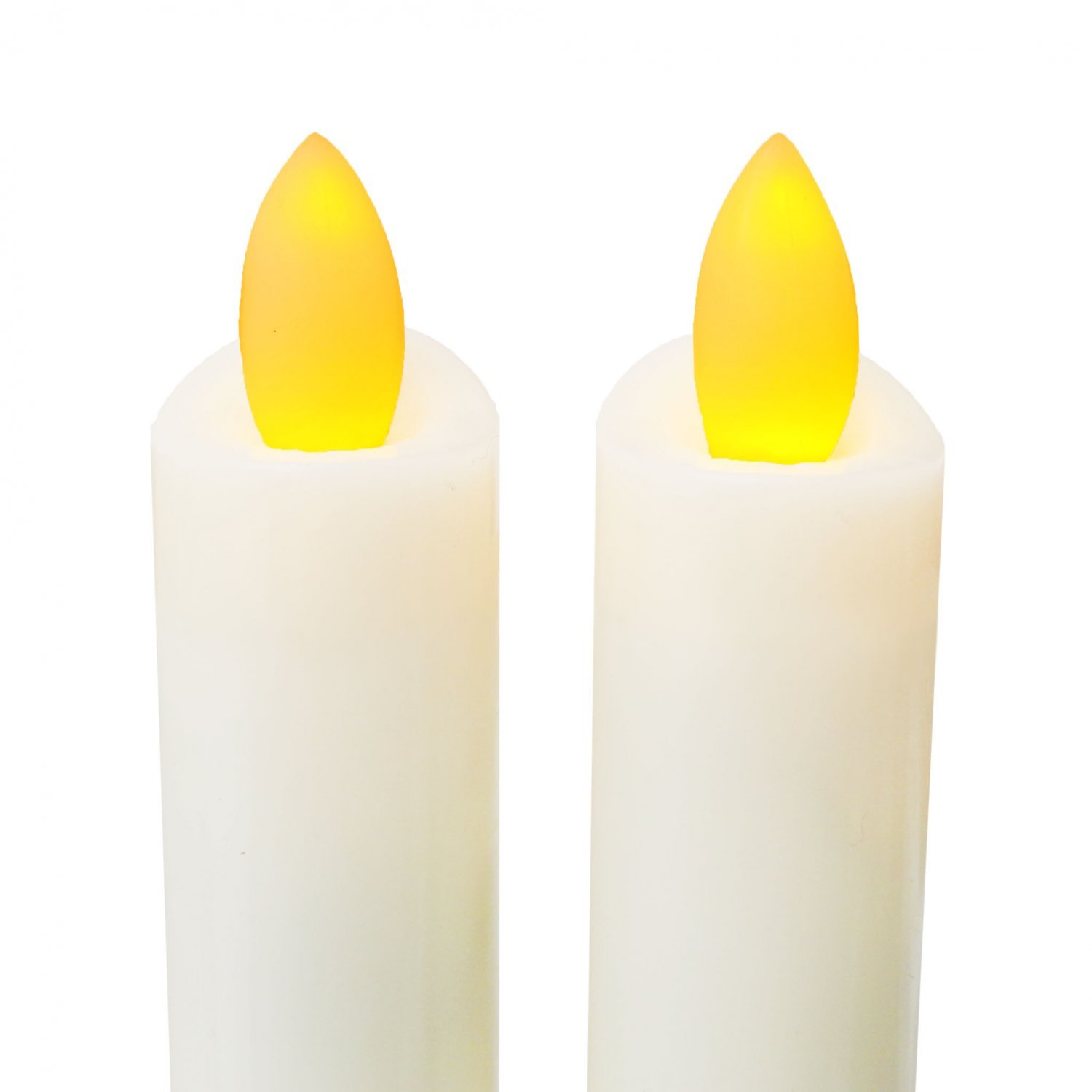 8 Real Wax Flameless Battery Operated Led Taper Candles W