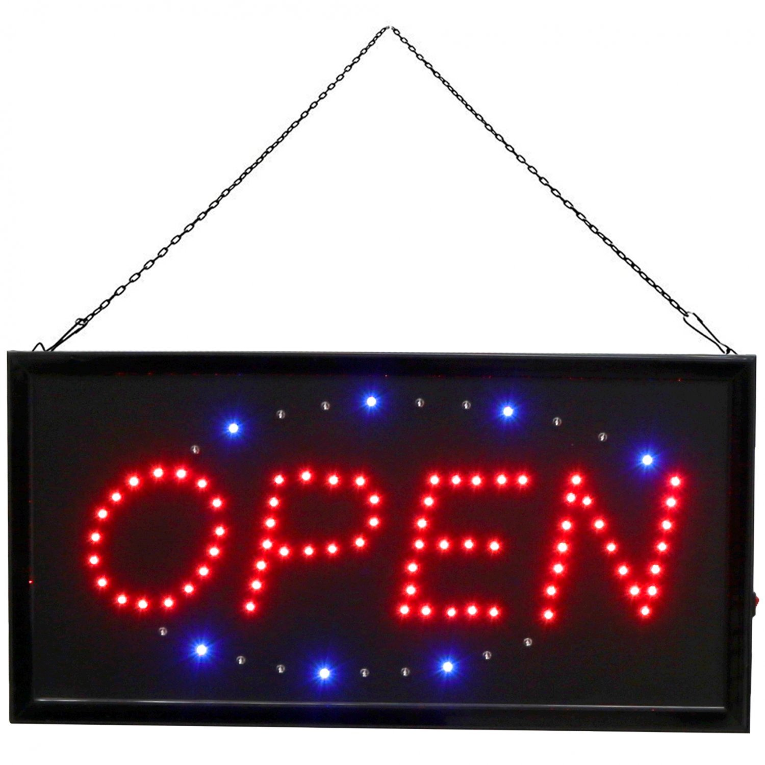 flashing led open sign shop window display hanging light oypla stocking the very. Black Bedroom Furniture Sets. Home Design Ideas