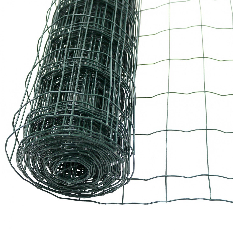PVC Coated Garden Border Wire Mesh Panel Fence Galvanised Net Chicken Run Cage