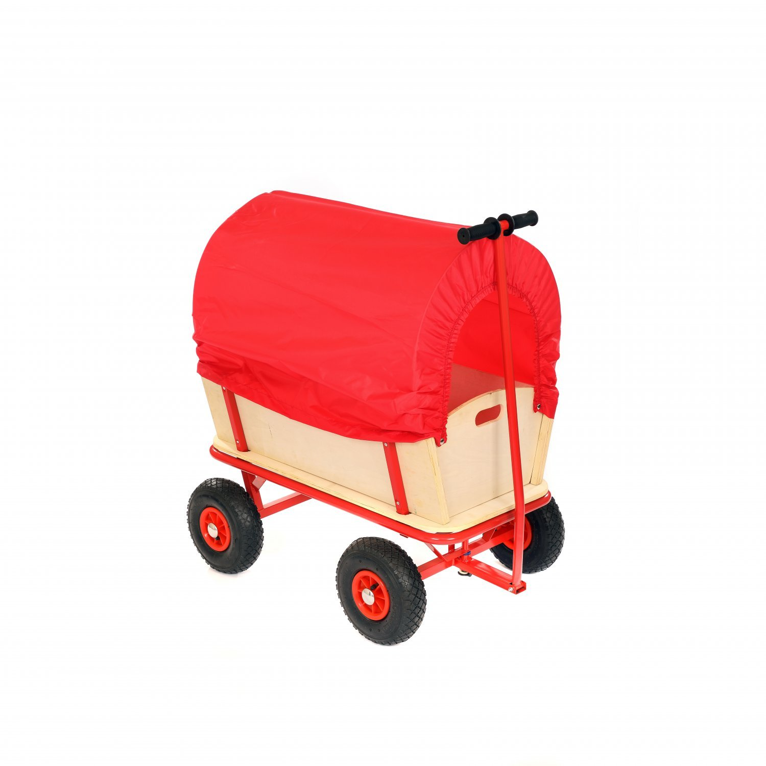 Childrens Kids Pull Along Toy Wagon Cart Trolley With