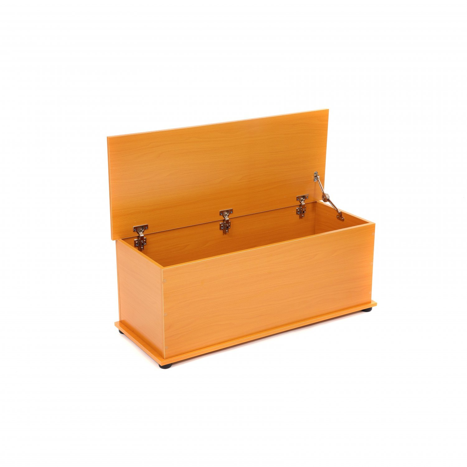 Beech Wooden Storage Chest Ottoman Blanket Box Toy Chest Trunk