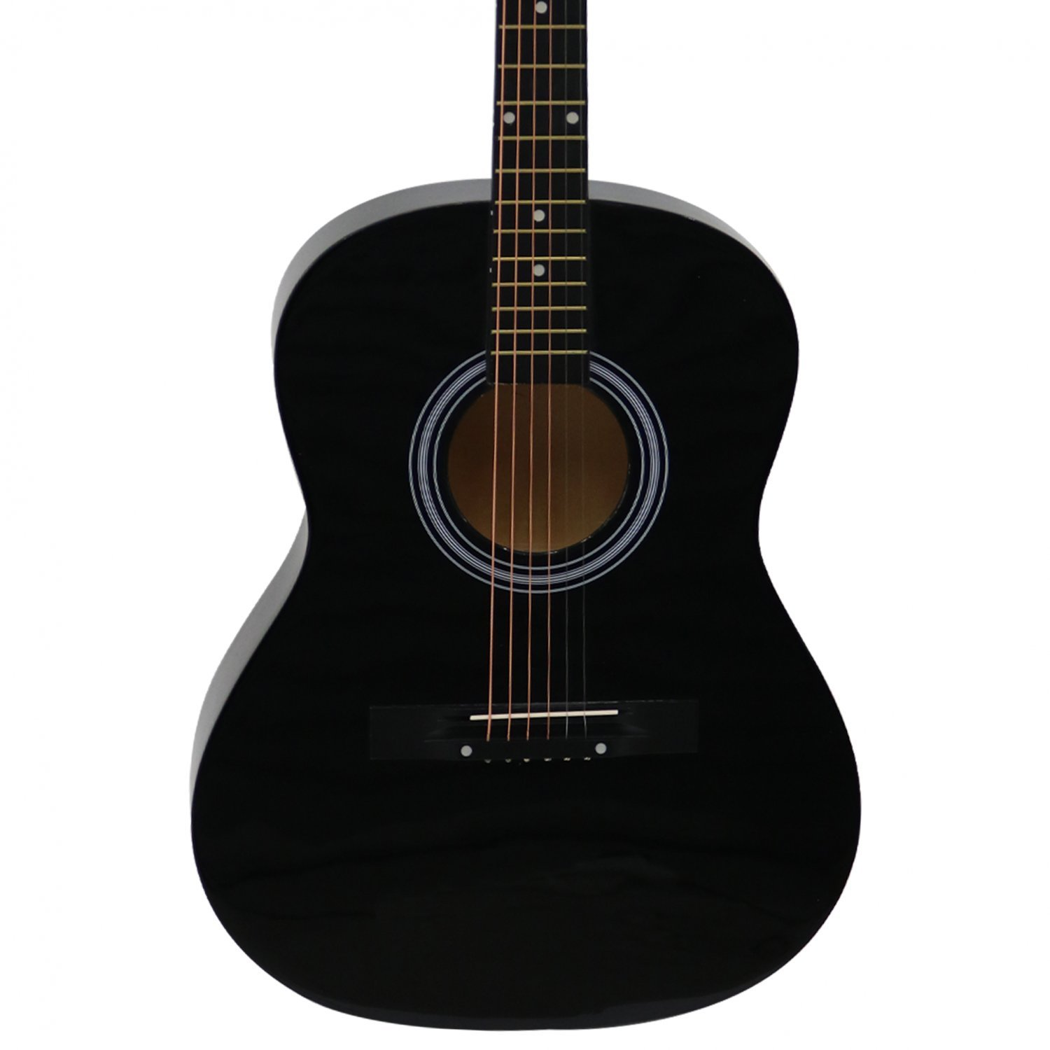 black 39 full size 4 4 6 string steel strung acoustic guitar oypla stocking the. Black Bedroom Furniture Sets. Home Design Ideas