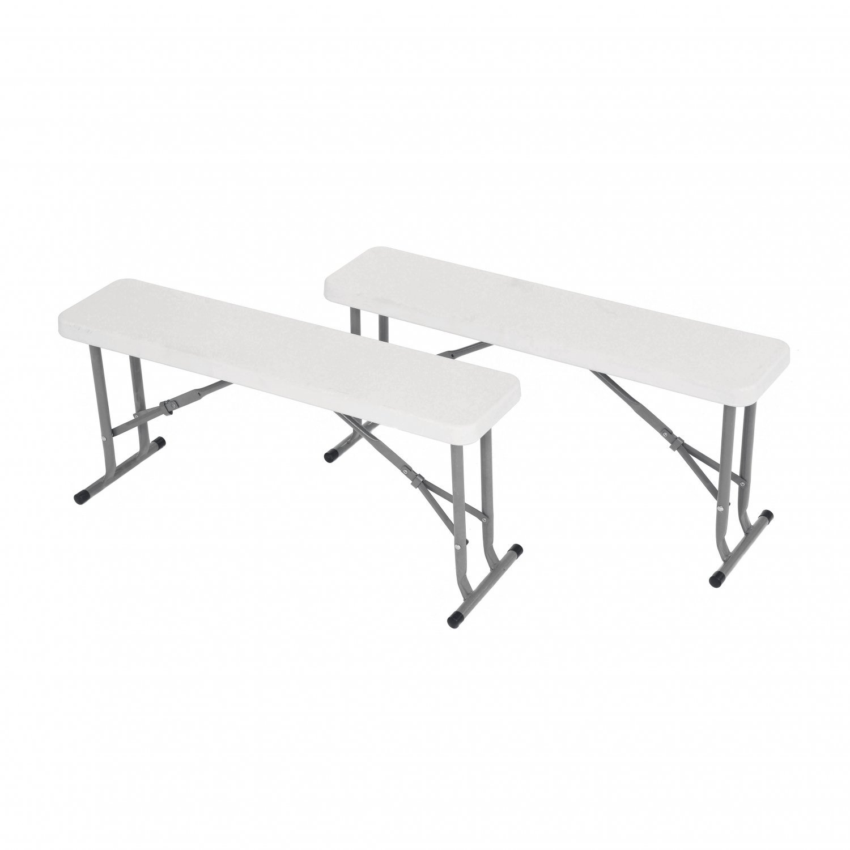 Prime 2X 3Ft Folding Heavy Duty Outdoor 2 Person Trestle Bench Chair Machost Co Dining Chair Design Ideas Machostcouk