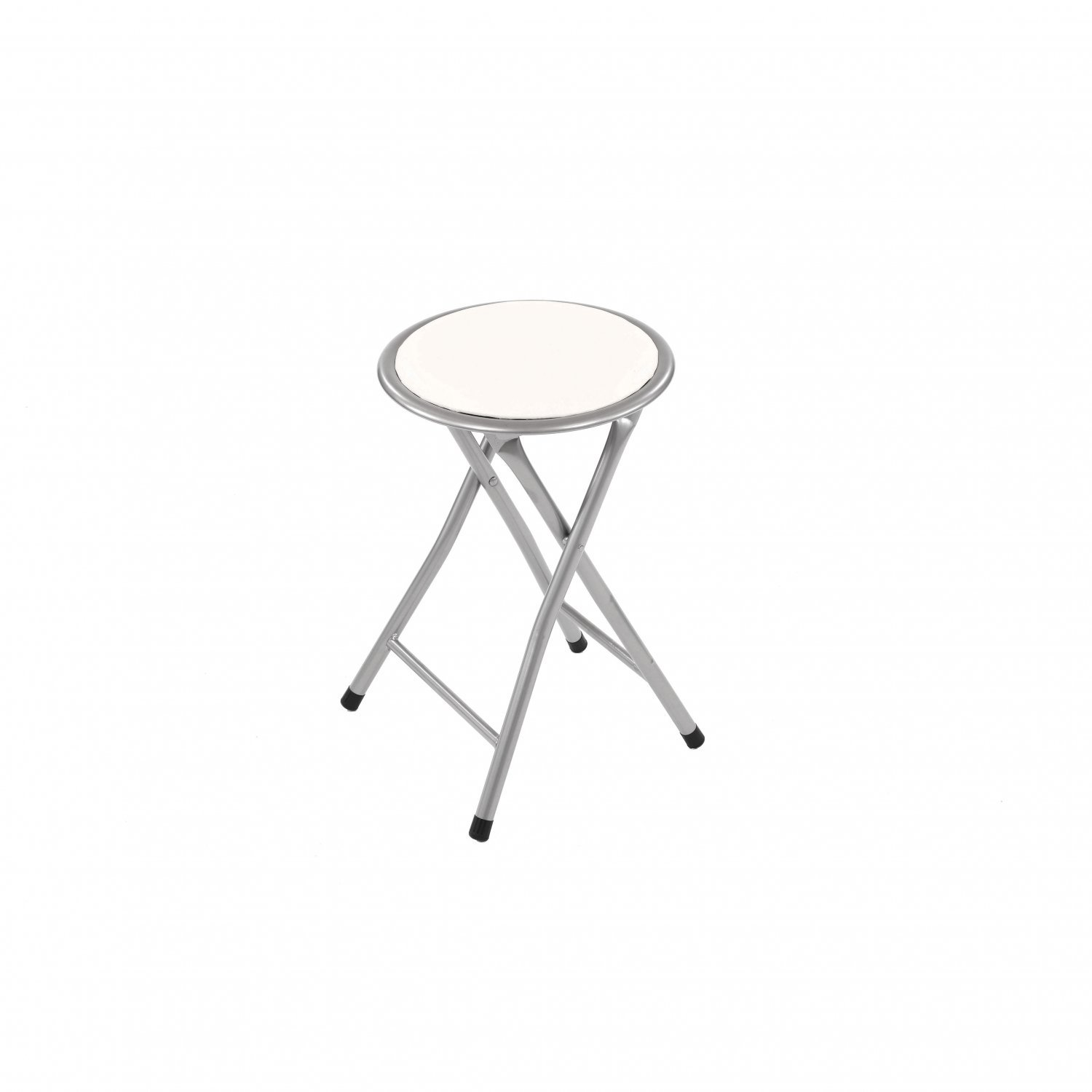Peachy White Padded Folding Breakfast Kitchen Bar Stool Seat Pabps2019 Chair Design Images Pabps2019Com