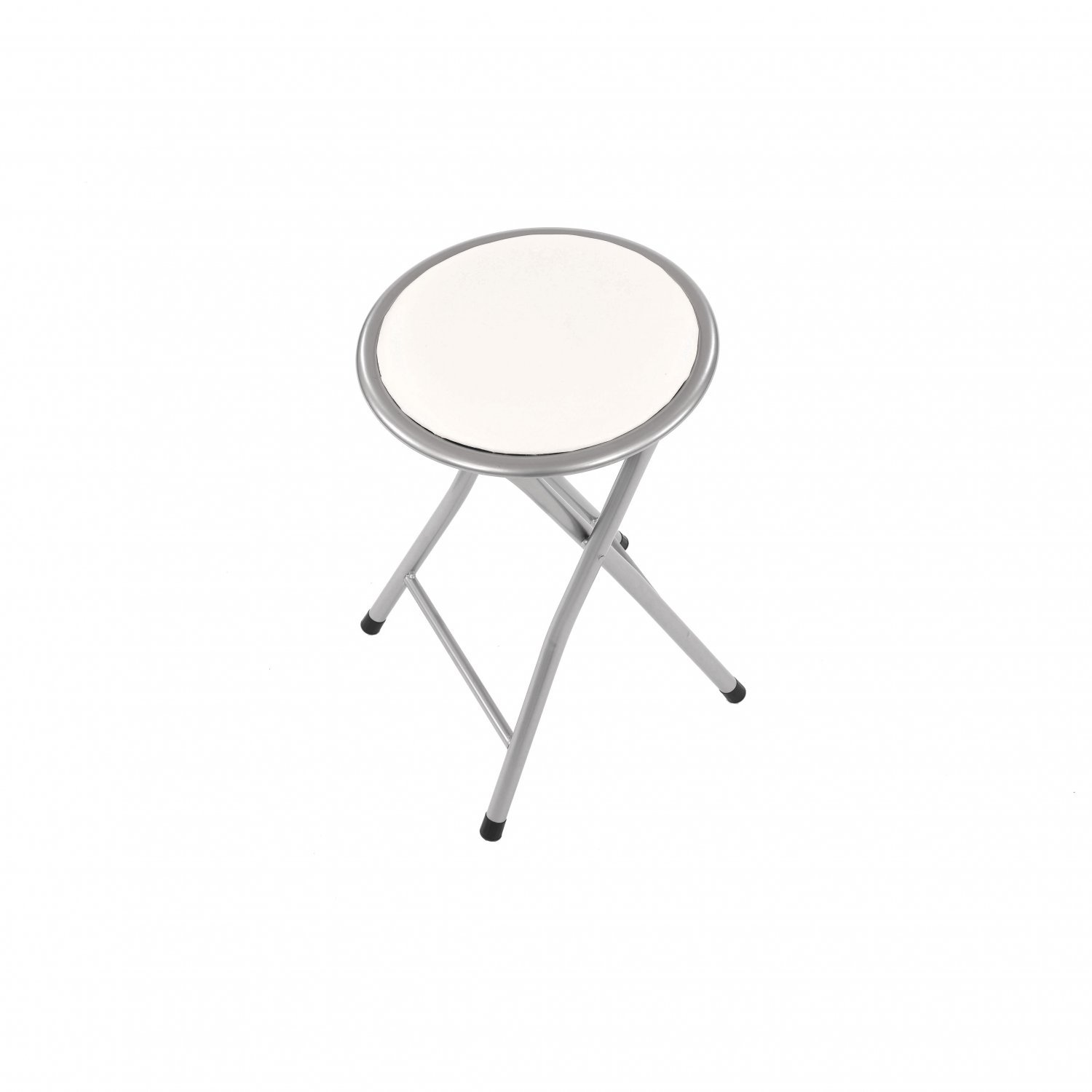 Swell White Padded Folding Breakfast Kitchen Bar Stool Seat Pabps2019 Chair Design Images Pabps2019Com