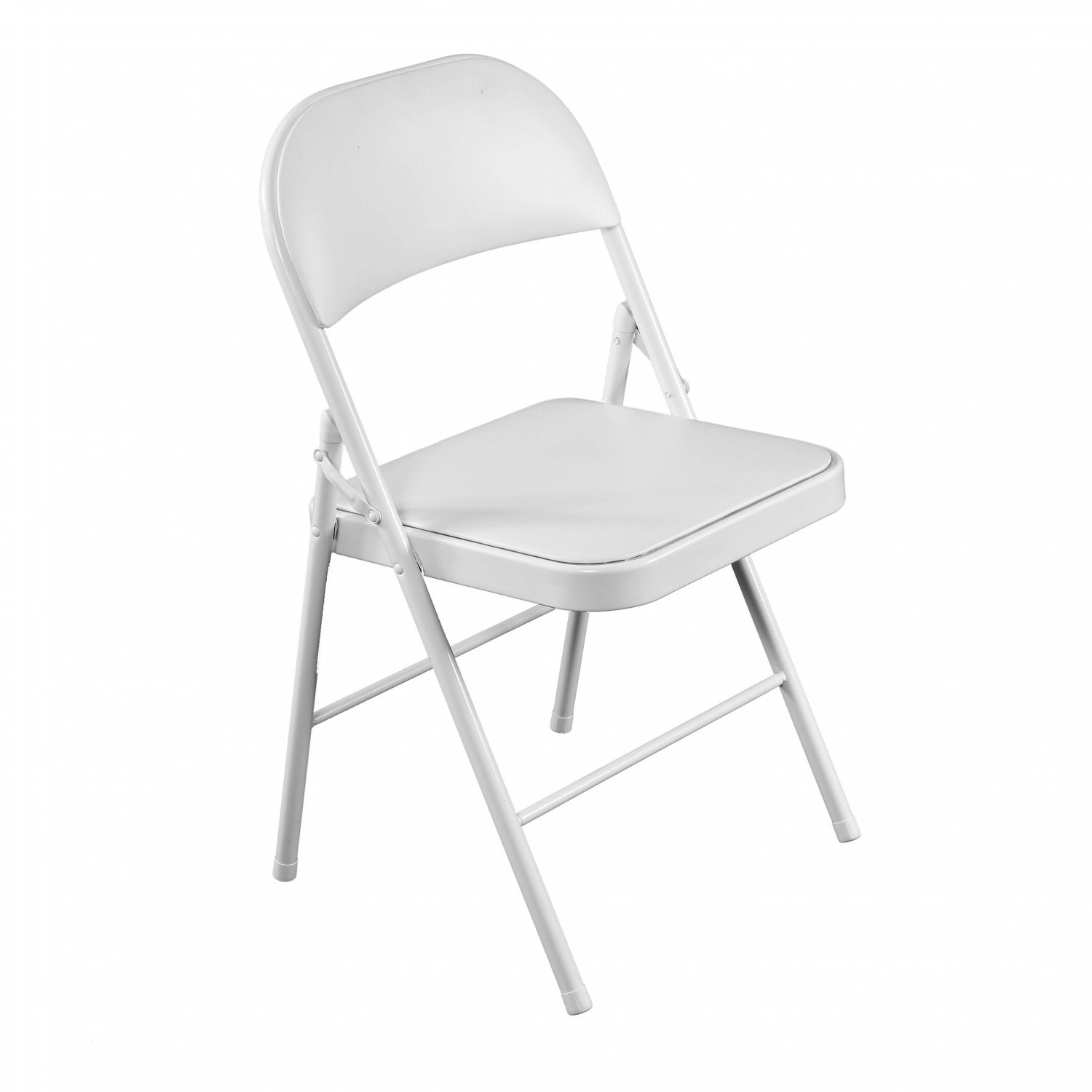 Heavy Duty White Padded Folding Metal Desk Office Chair Seat 19 99 Oypla Stocking The Very Best In Toys Electrical Furniture Homeware Garden Gifts And Much More
