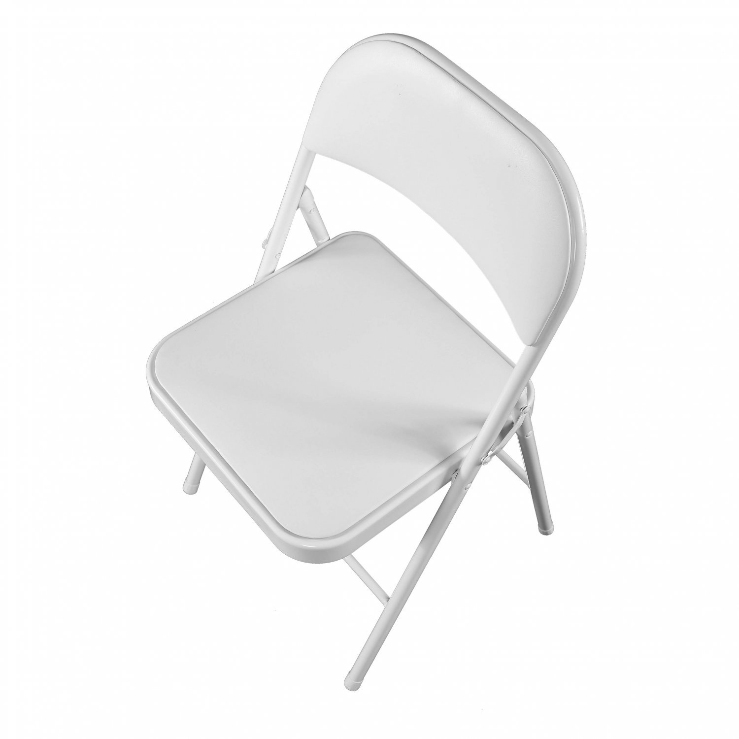Image of: Heavy Duty White Padded Folding Metal Desk Office Chair Seat 19 99 Oypla Stocking The Very Best In Toys Electrical Furniture Homeware Garden Gifts And Much More