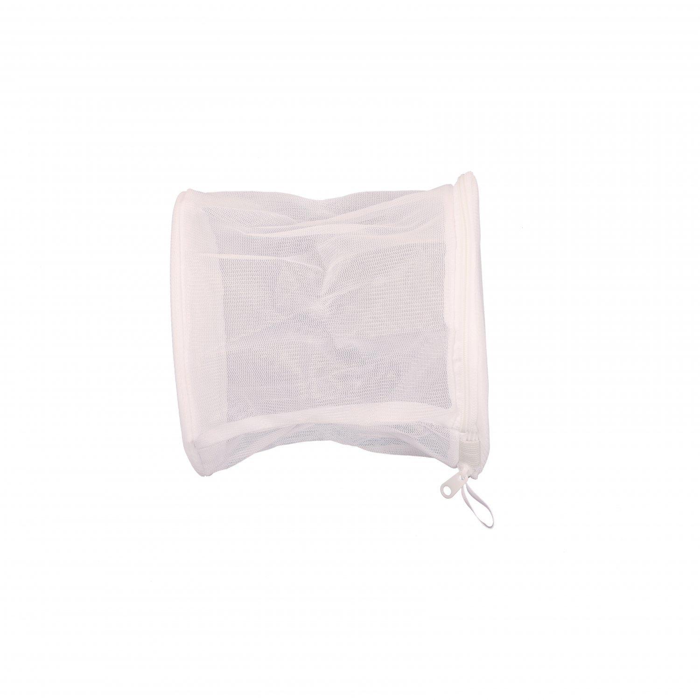 White Mesh Zipper Bra Laundry Washing Bags