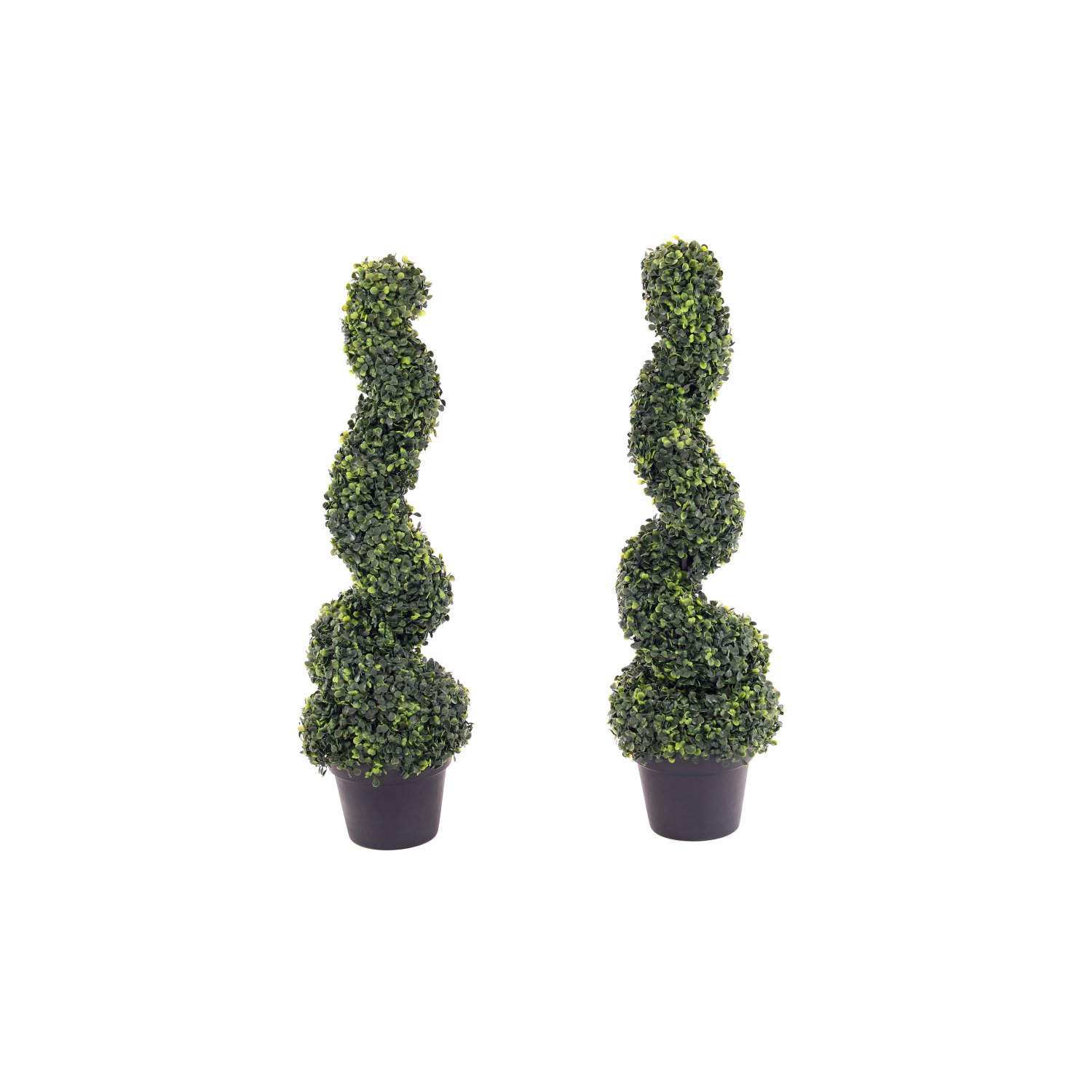 Set Of 2 Artificial Topiary Boxwood Spiral Trees 80cm Indoor Outdoor Decoration 47 99 Oypla Stocking The Very Best In Toys Electrical Furniture Homeware Garden Gifts And Much More