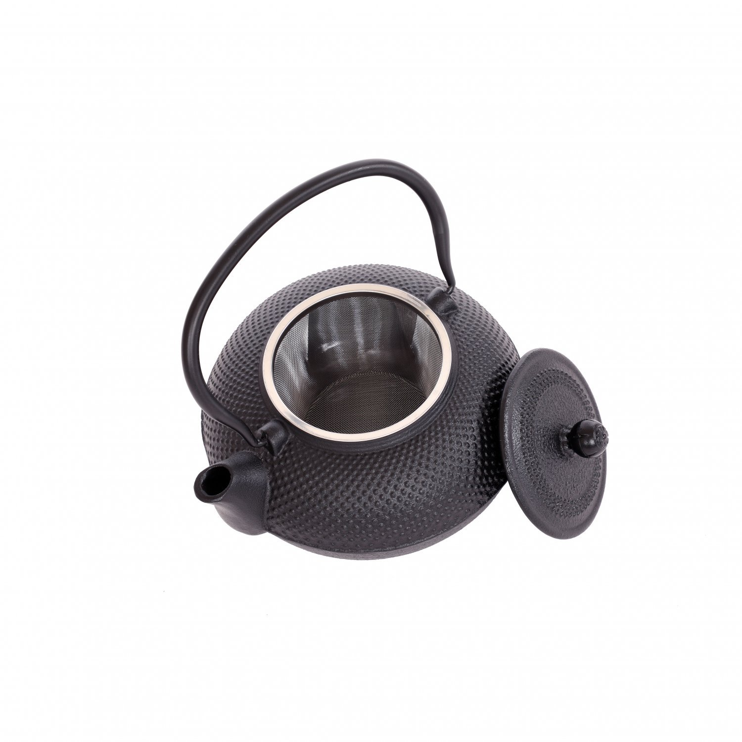 1.5L Japanese Style Cast Iron Hob Nail Teapot with Stainless Steel Infuser NEW