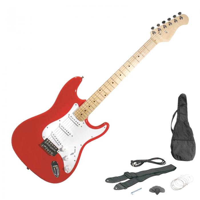 new st 6 string full size electric guitar set ebay. Black Bedroom Furniture Sets. Home Design Ideas