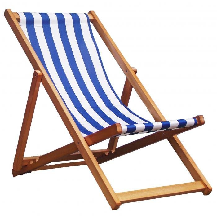 Exceptionnel Traditional Folding Hardwood Garden Beach Deck Chairs Deckchairs