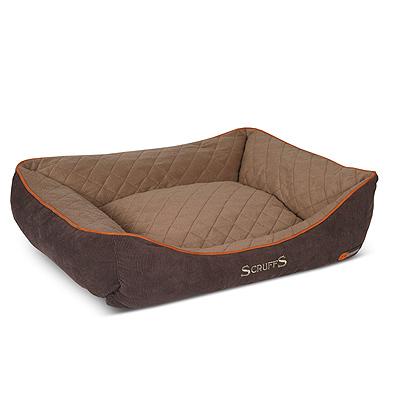 Scruffs Self Heating Box Bed 90x70cm Brown Xl Pet