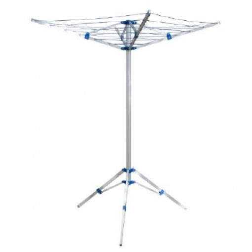 15m 4 arm lightweight aluminium rotary airer portable washing. Black Bedroom Furniture Sets. Home Design Ideas